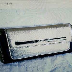Steve Madden Metallic Trifold Wallet